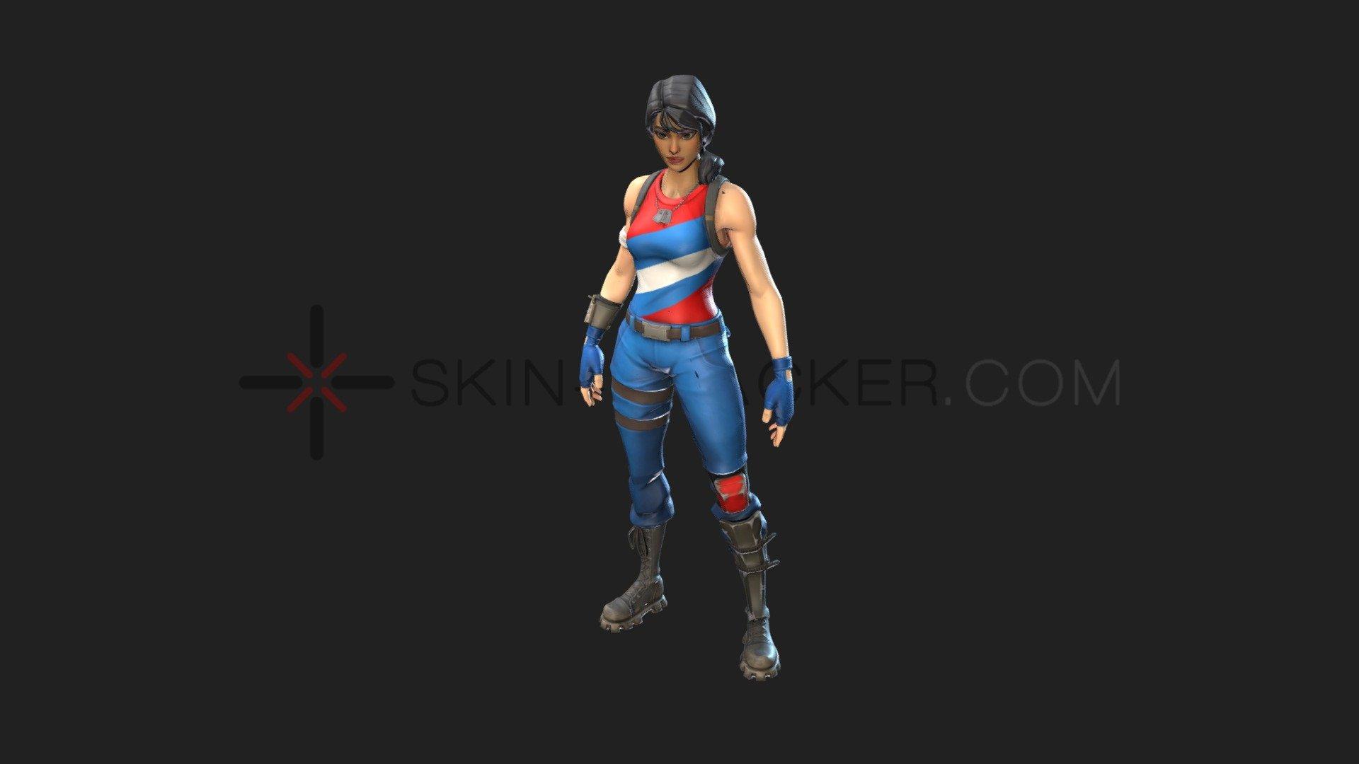 Fortnite   Star Spangled Ranger   3D model by Skin Tracker 1920x1080