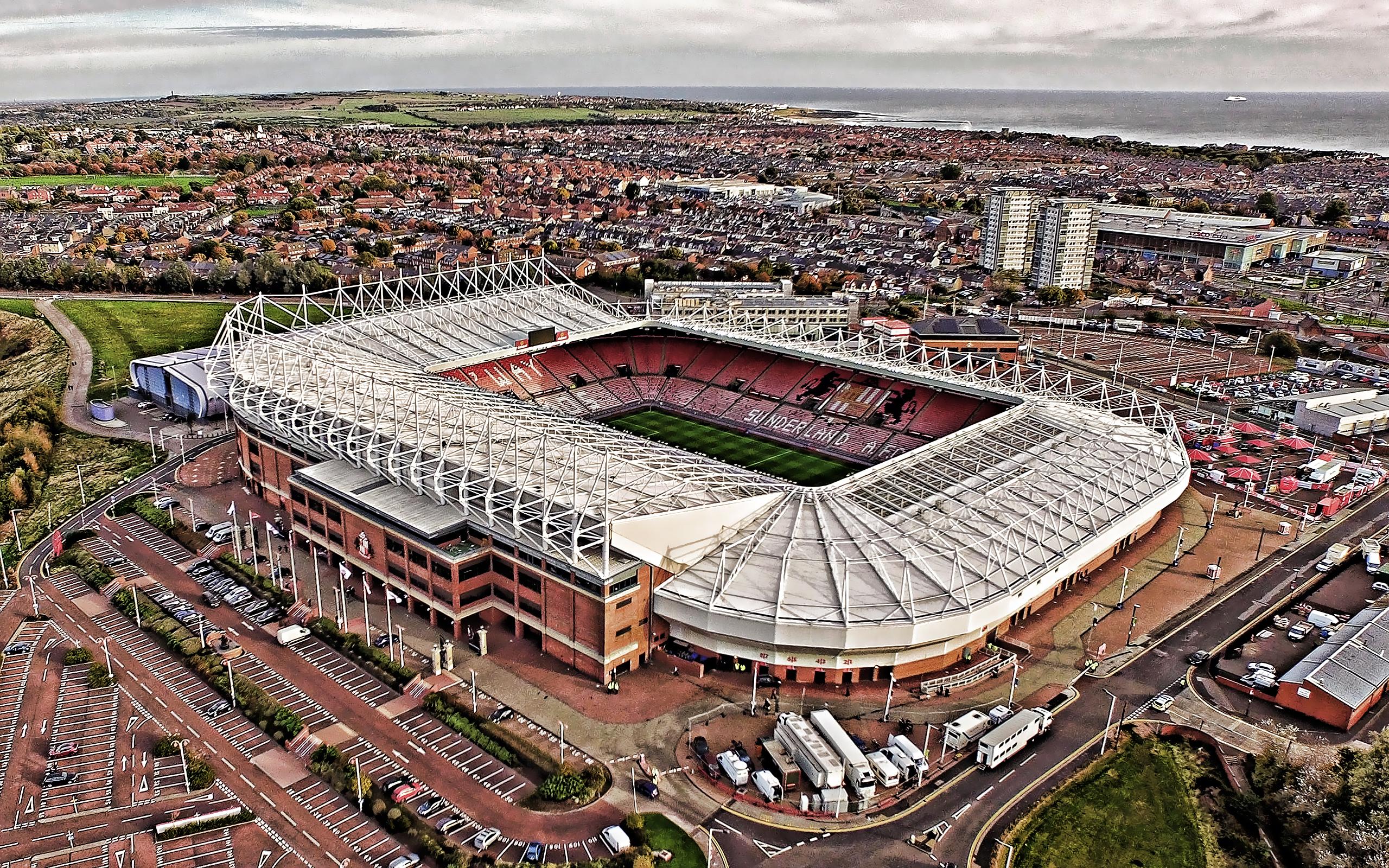 Download wallpapers Stadium of Light Sunderland AFC Stadium 2560x1600