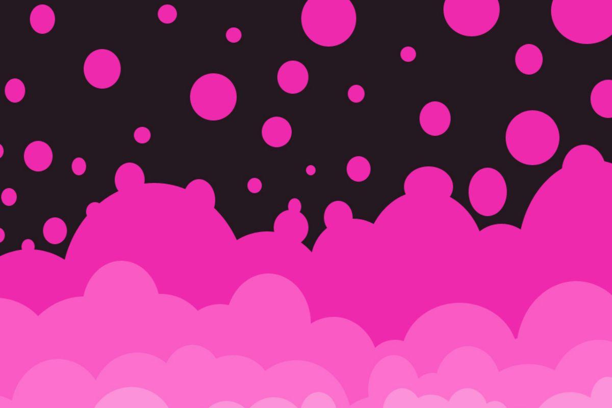 Burbujas Rosa Pink Background wallpaper download 1200x800