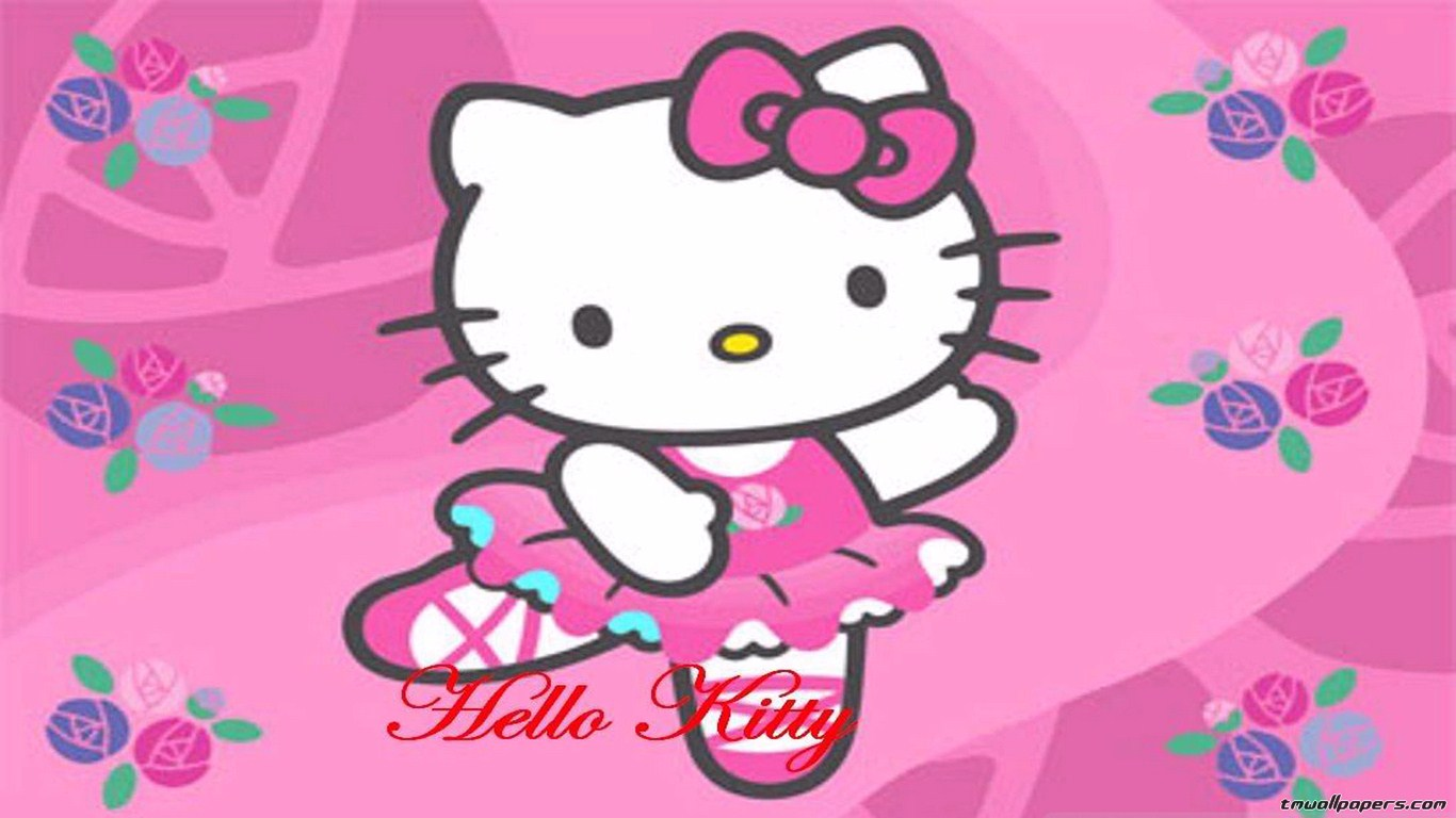 Pics Photos   Goodbye Kitty Screensaver Wallpaper 1366x768