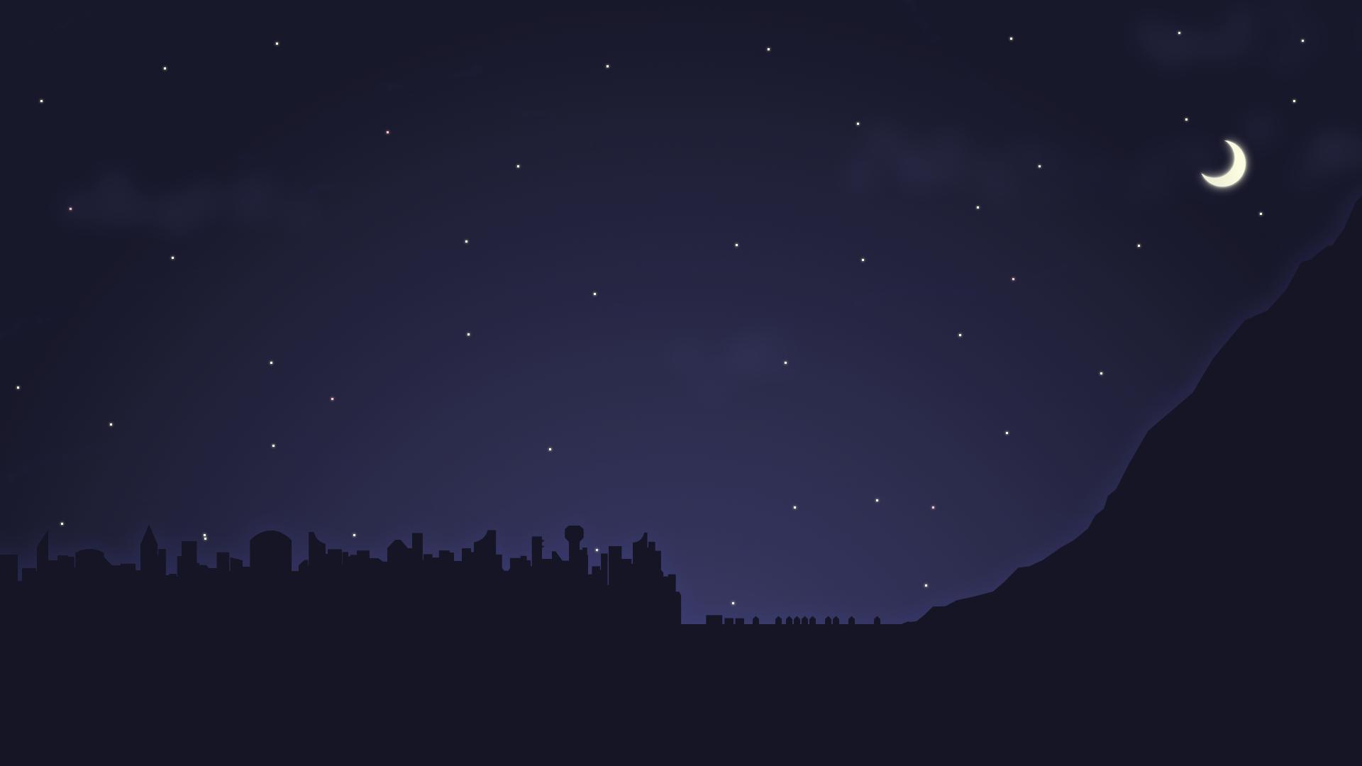 night sky wallpaper by dji435 customization wallpaper minimalistic 1920x1080