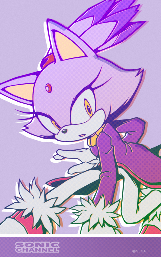 Blaze the Cat Fires Up November With New Sonic Channel Wallpaper 644x1024