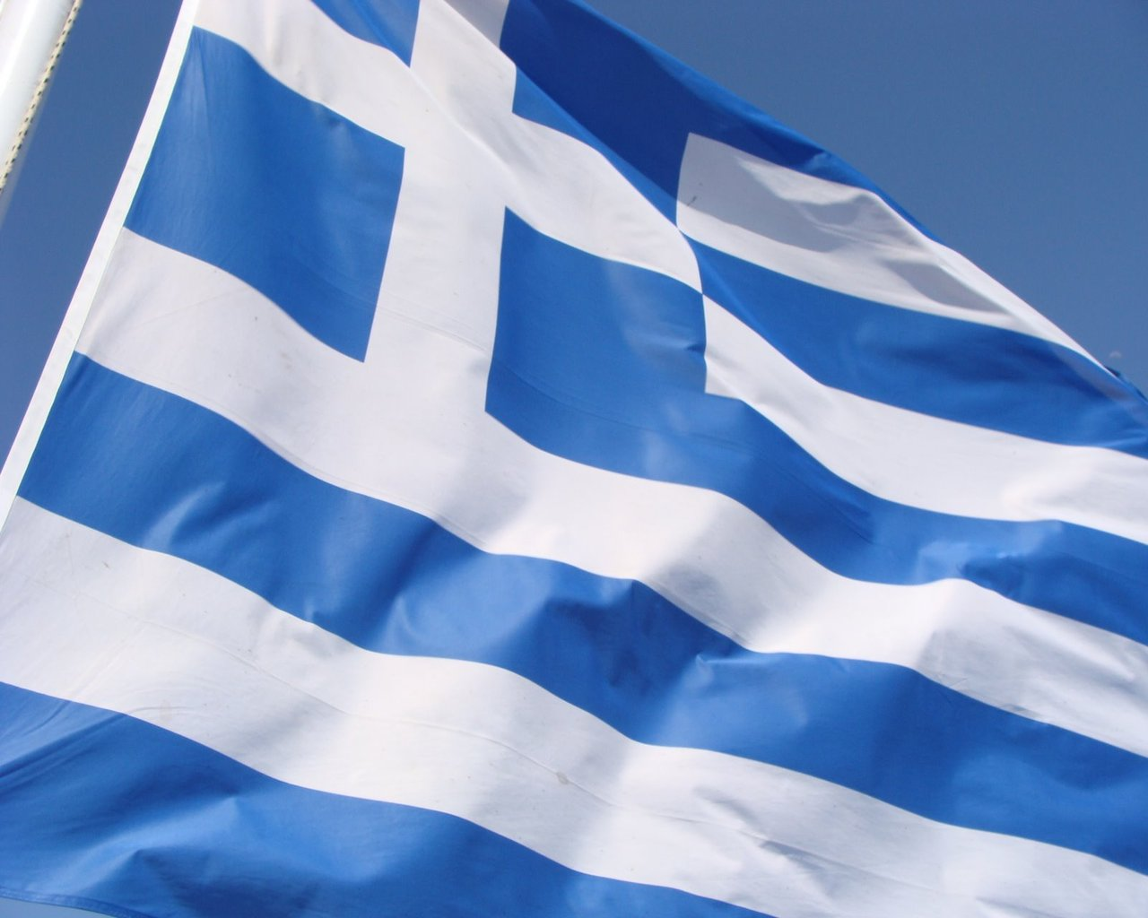 Download Greece wallpaper greece flag 1280x1024