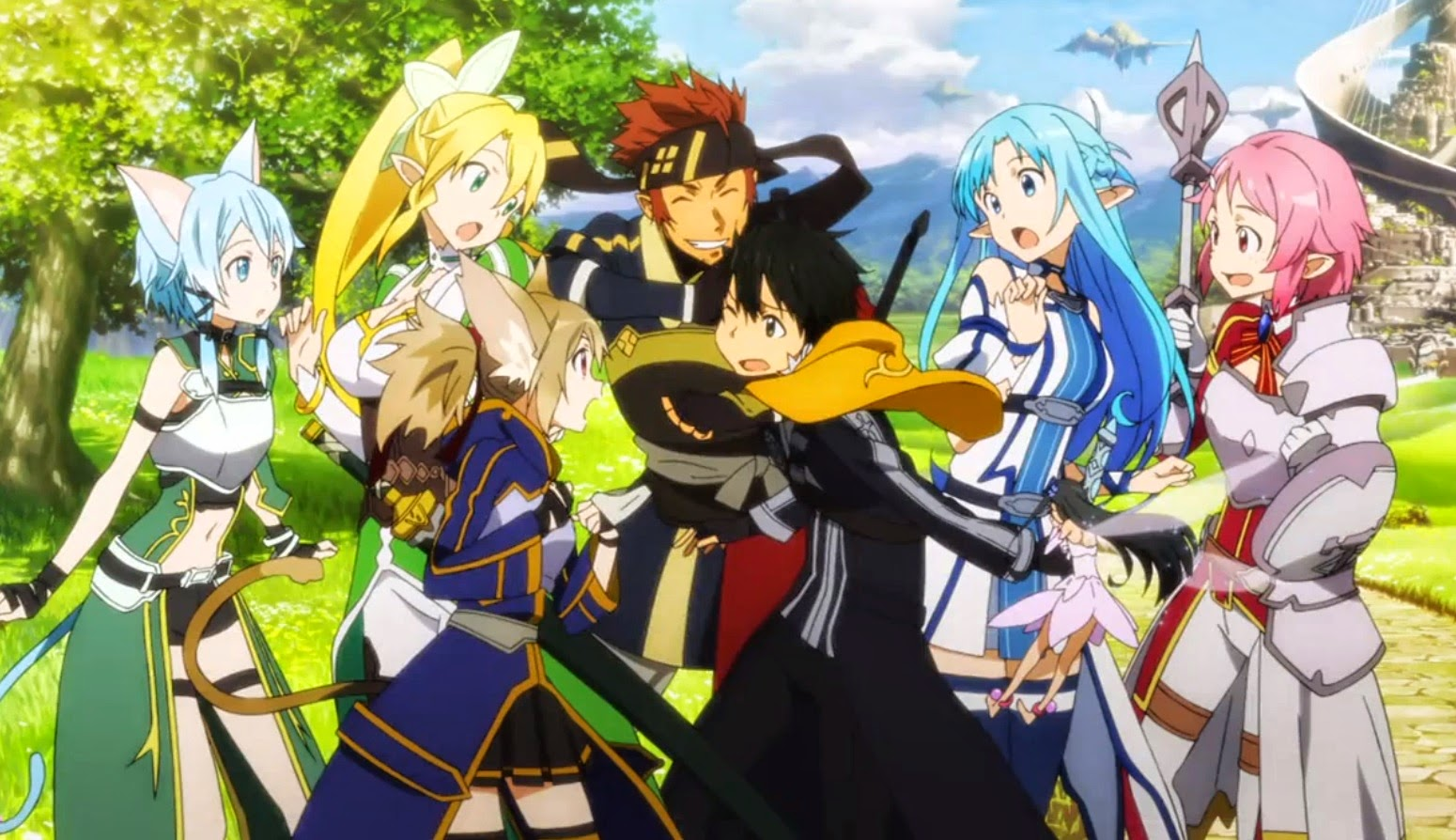 Free Download Sao Ii Group Wallpaper 1550x894 For Your Desktop