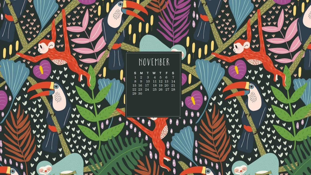 November 2020 Desktop Wallpaper Calendar Calendar wallpaper 1024x576