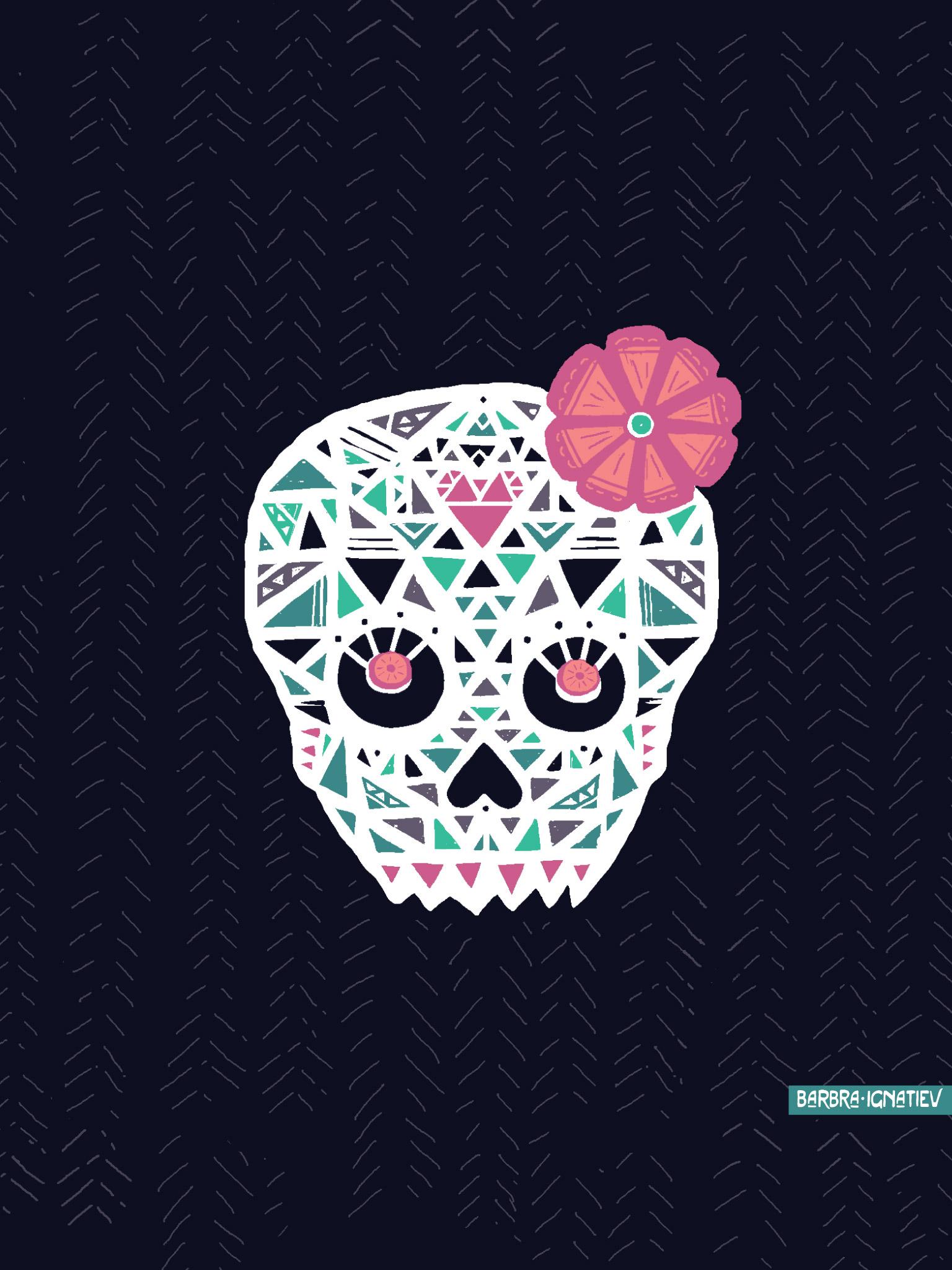 sugar skull wallpaper for home wallpapersafari