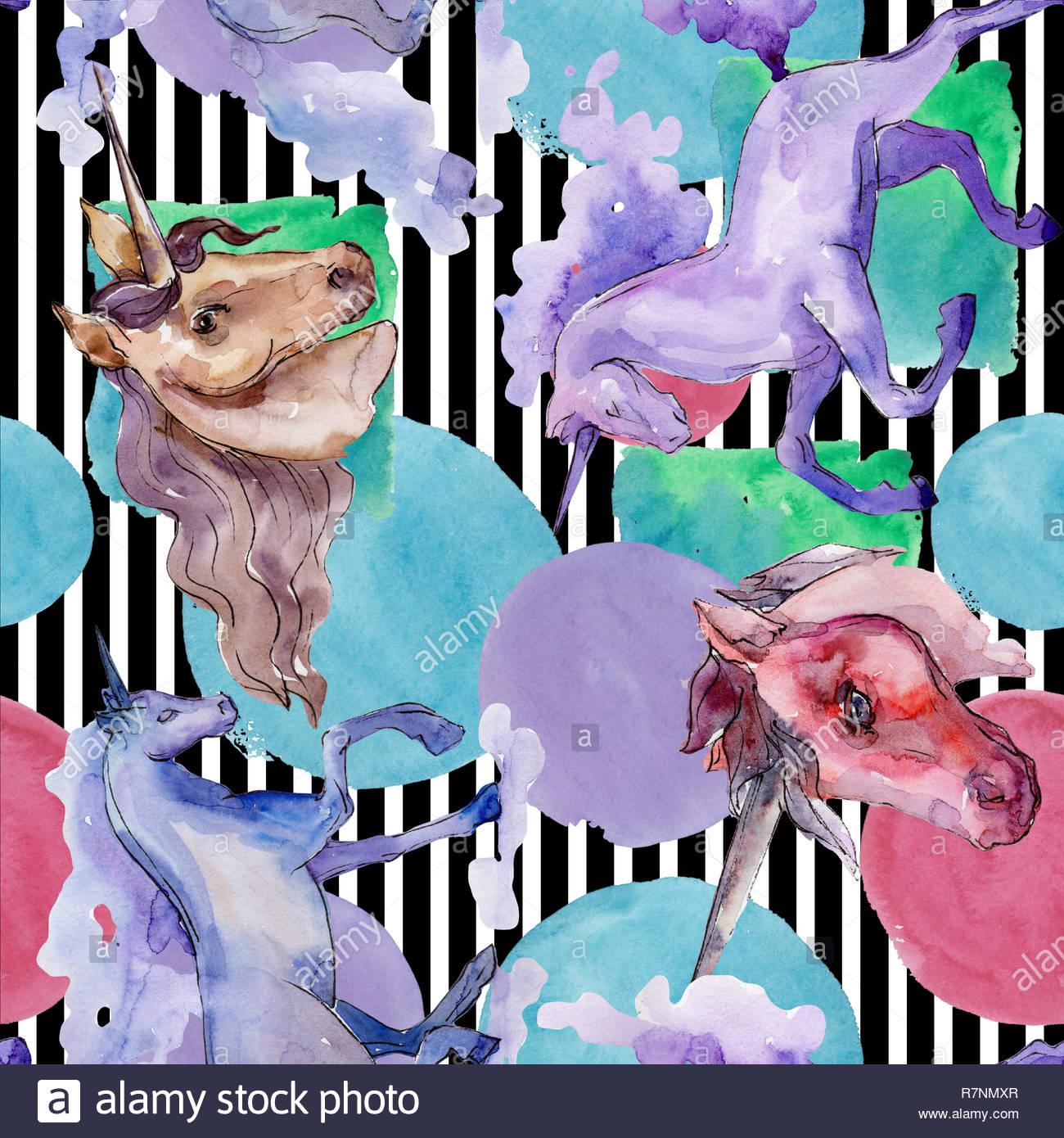 Cute unicorn watercolor illustration Watercolour isolated 1300x1390
