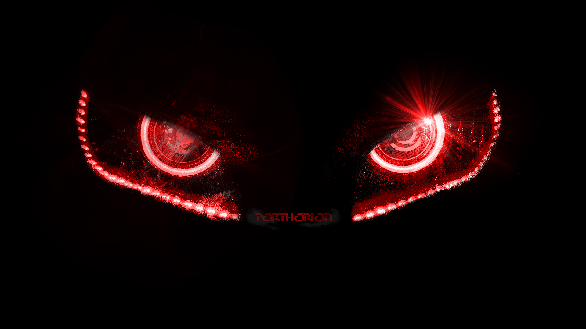 evil robotic eyes without lines by porthorion customization wallpaper 1920x1080