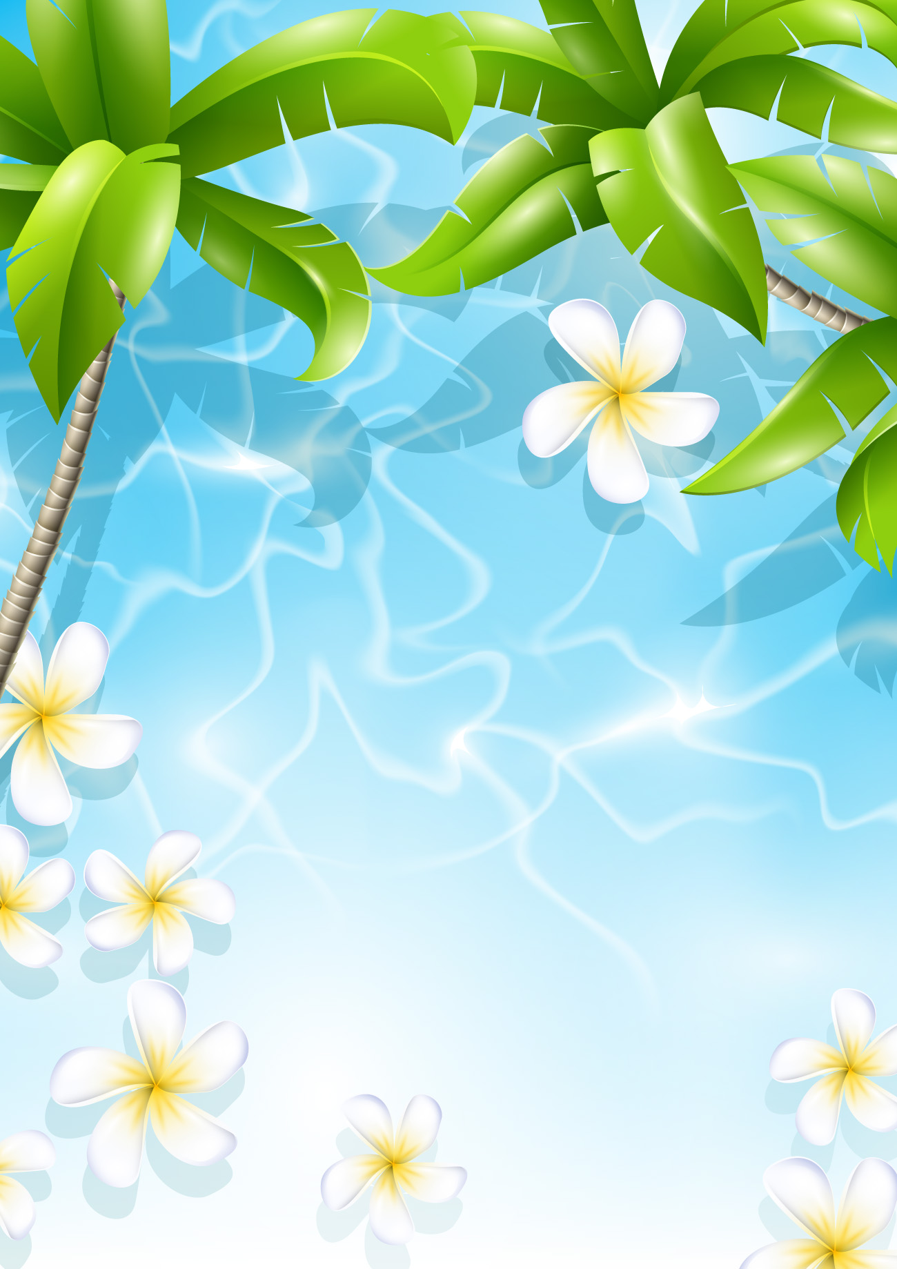 tropical beach wallpaper border