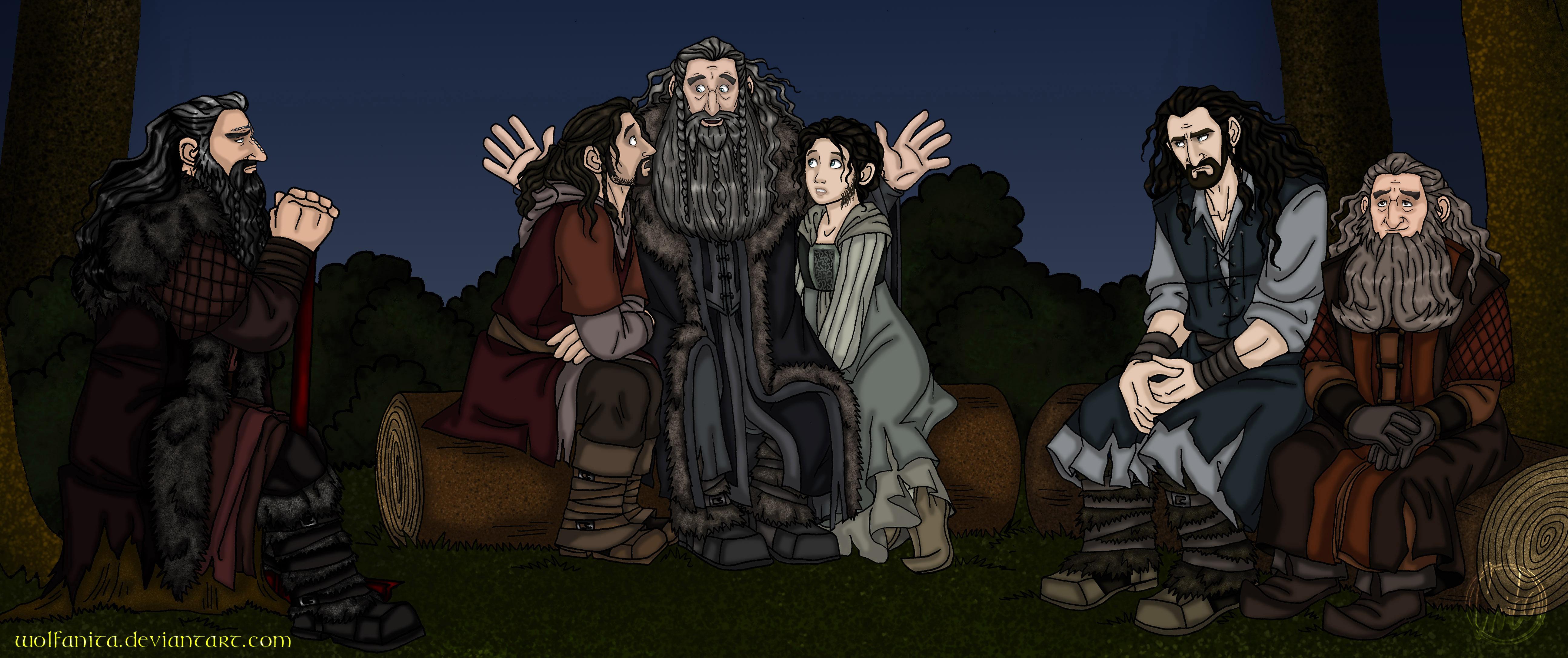 The Hobbit I Dreamt of Erebor Unlighted CloseUp by wolfanita on 5175x2174