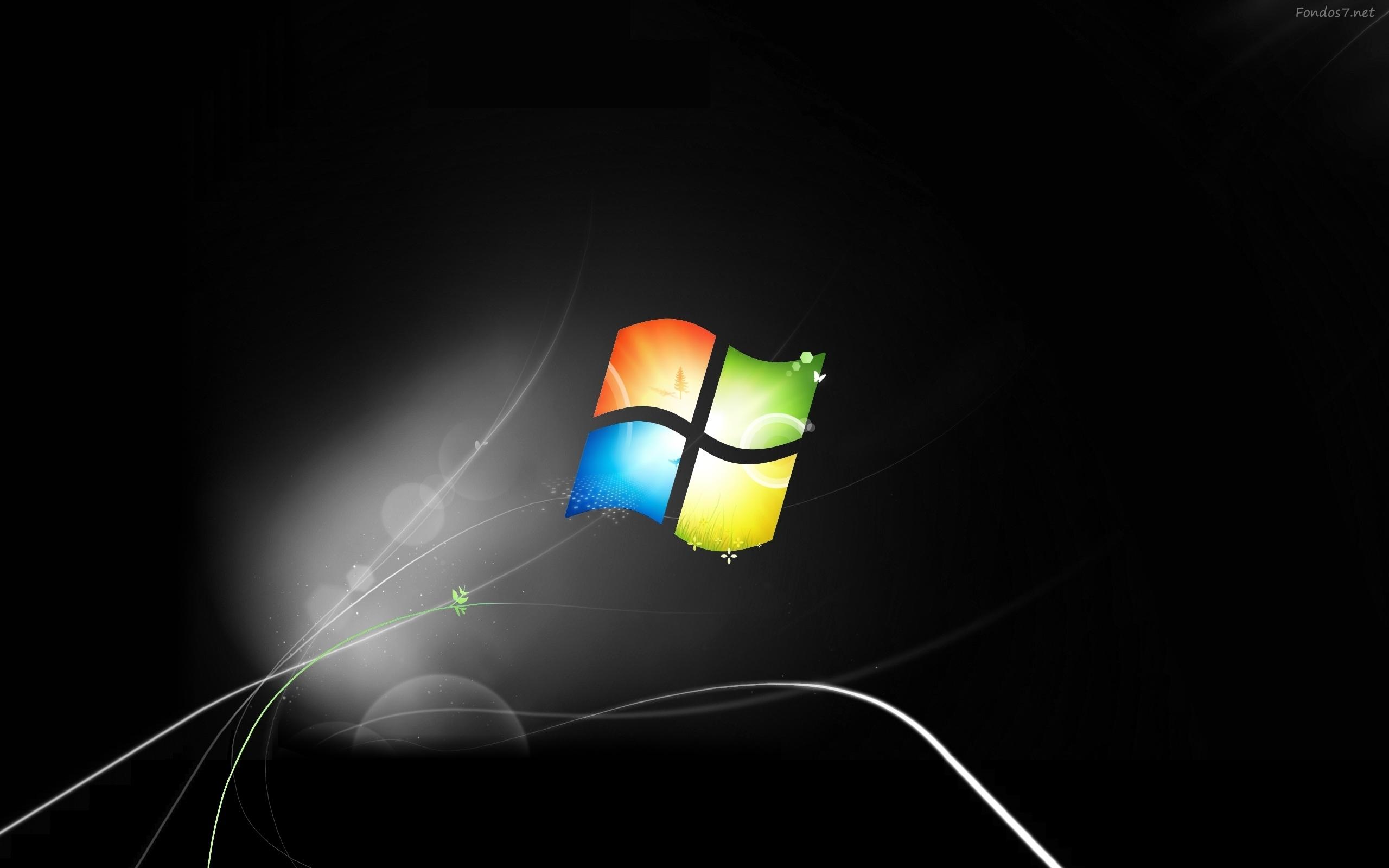 Windows 7 Seven Wallpaper Fondos De Escritorio Wallpapers: Dark Windows 7 Wallpaper