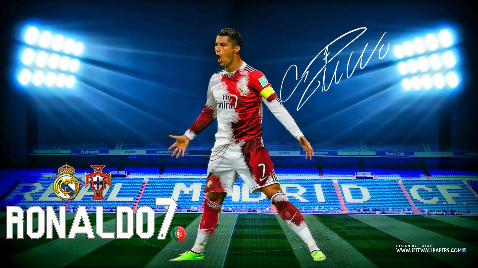 Download Cristiano Ronaldo CR7 Real Madrid Kit 2015 HD Wallpaper 1920x1080