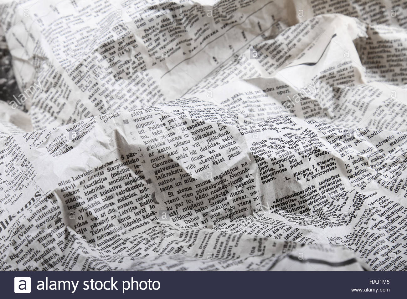 background of old crumpled newspaper Stock Photo 127015621   Alamy 1300x956