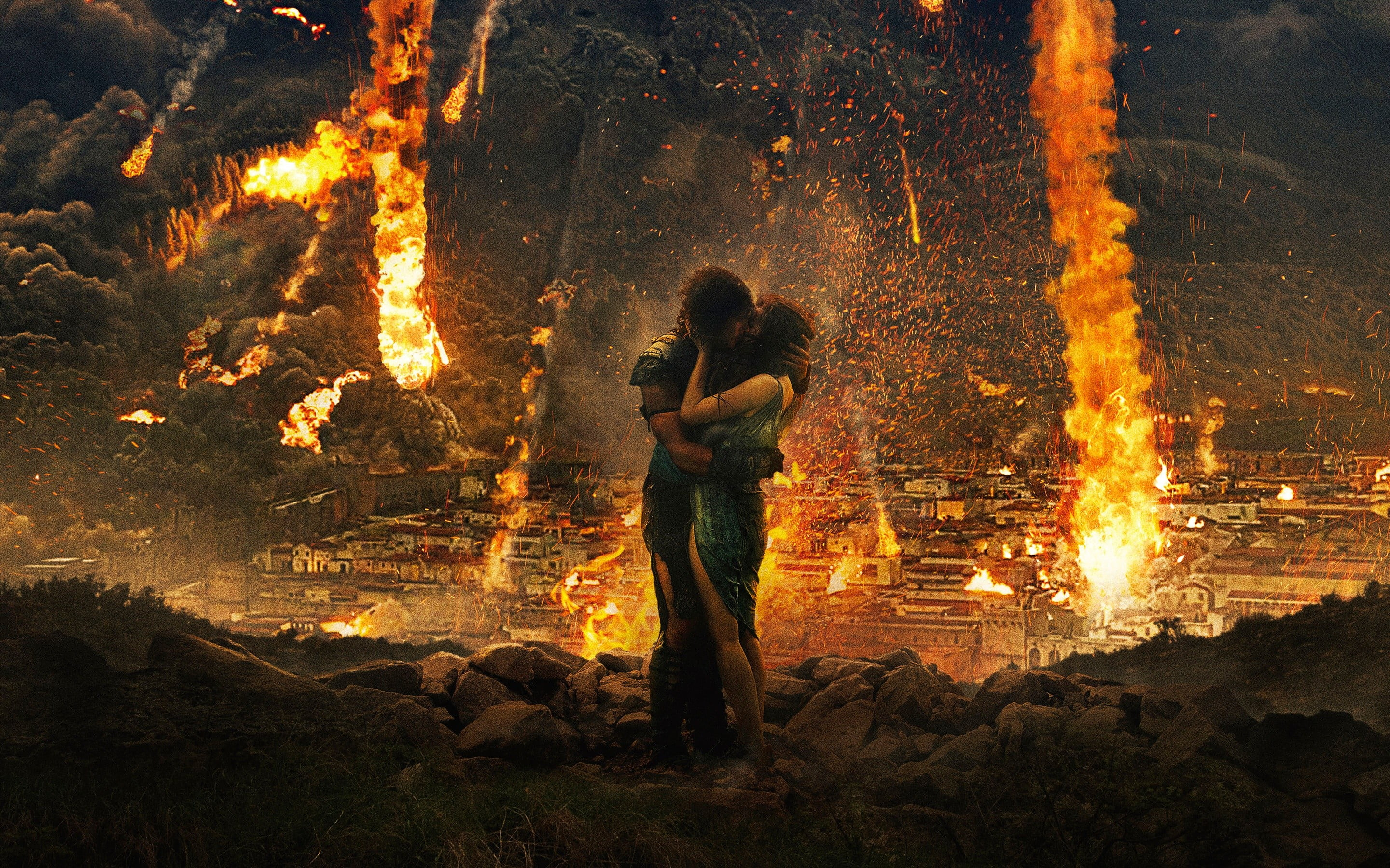Pompeii movie poster movies kissing Pompeii Kit Harington HD 2880x1800