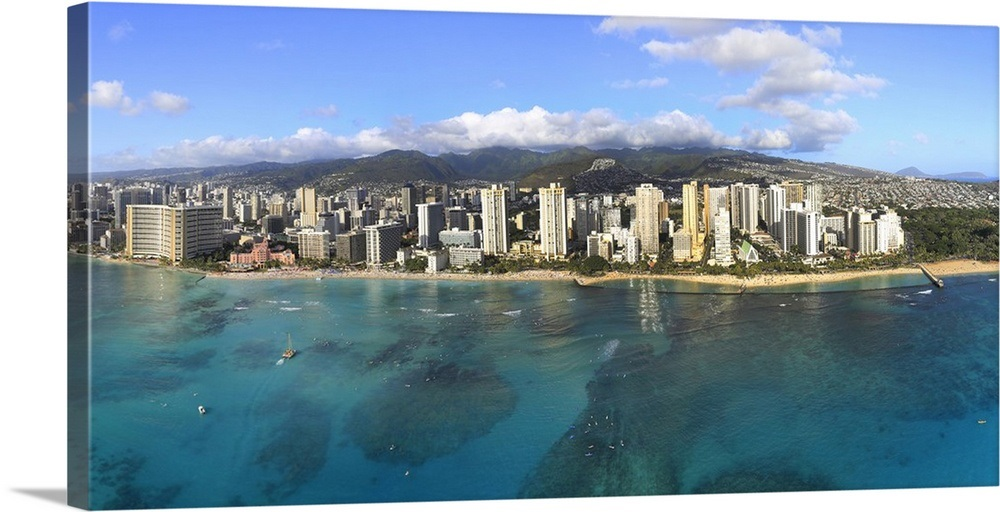Best Buildings along beachfront waikiki honolulu oahu hawaii usa 1000x512