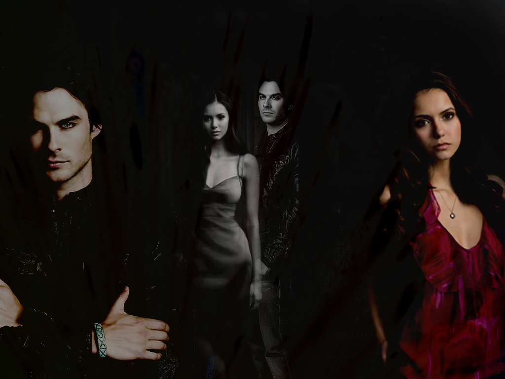 The Vampire Diaries ElenaDamon 1024x768