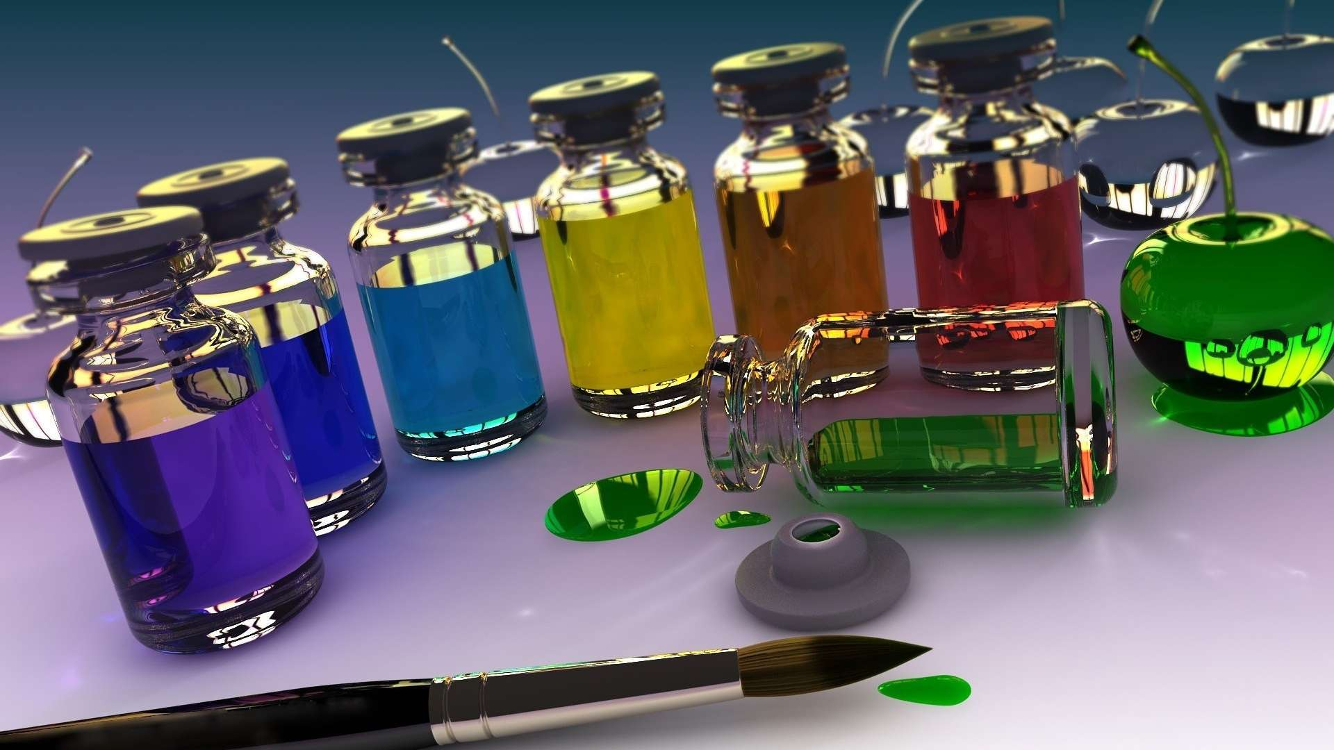 Wallpaper 3d Banks Brush Paint Glass Hd Wallpaper 1080p Upload at 1920x1080