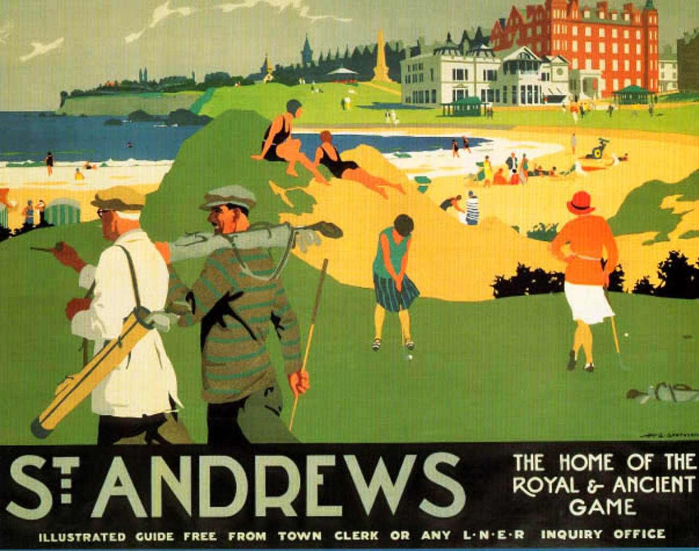 St Andrews Golf   Vintage Sports Posters 1371x1080