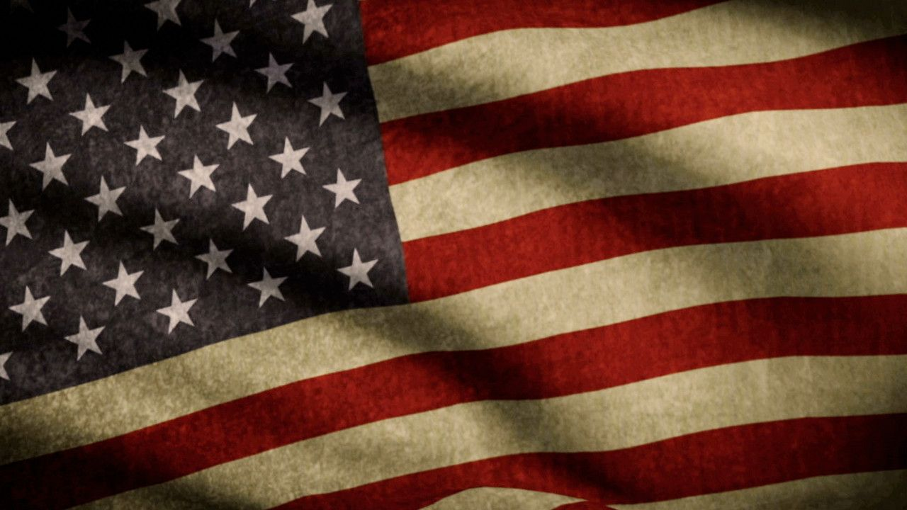 Us Flag Backgrounds 1280x720