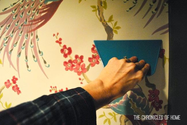 The Chronicles of Home How to Hang Paste the Wall Wallpaper 650x435
