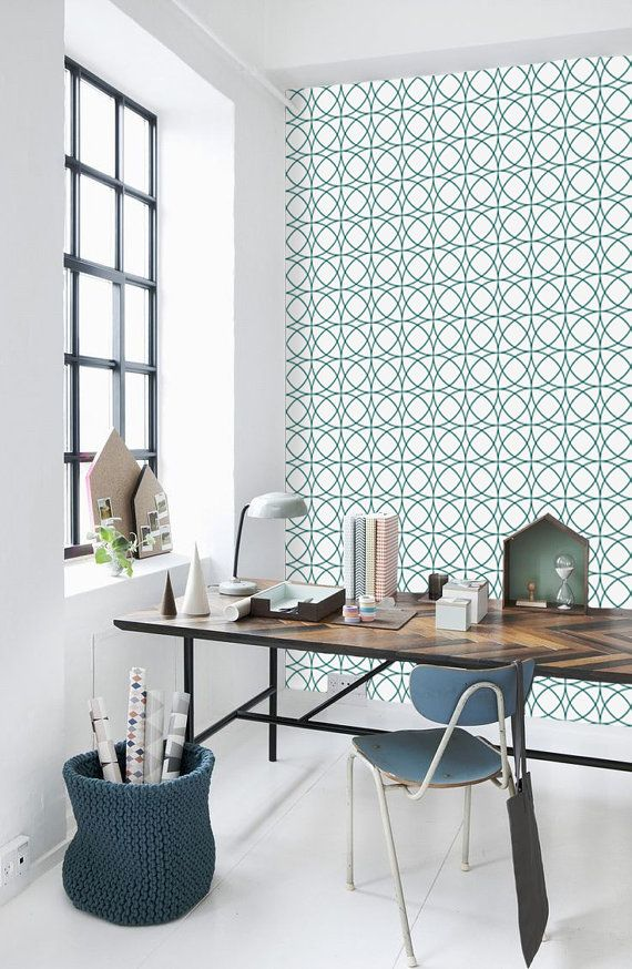 Geometric Circle Pattern Self Adhesive Vinyl Wallpaper by Livettes 570x874