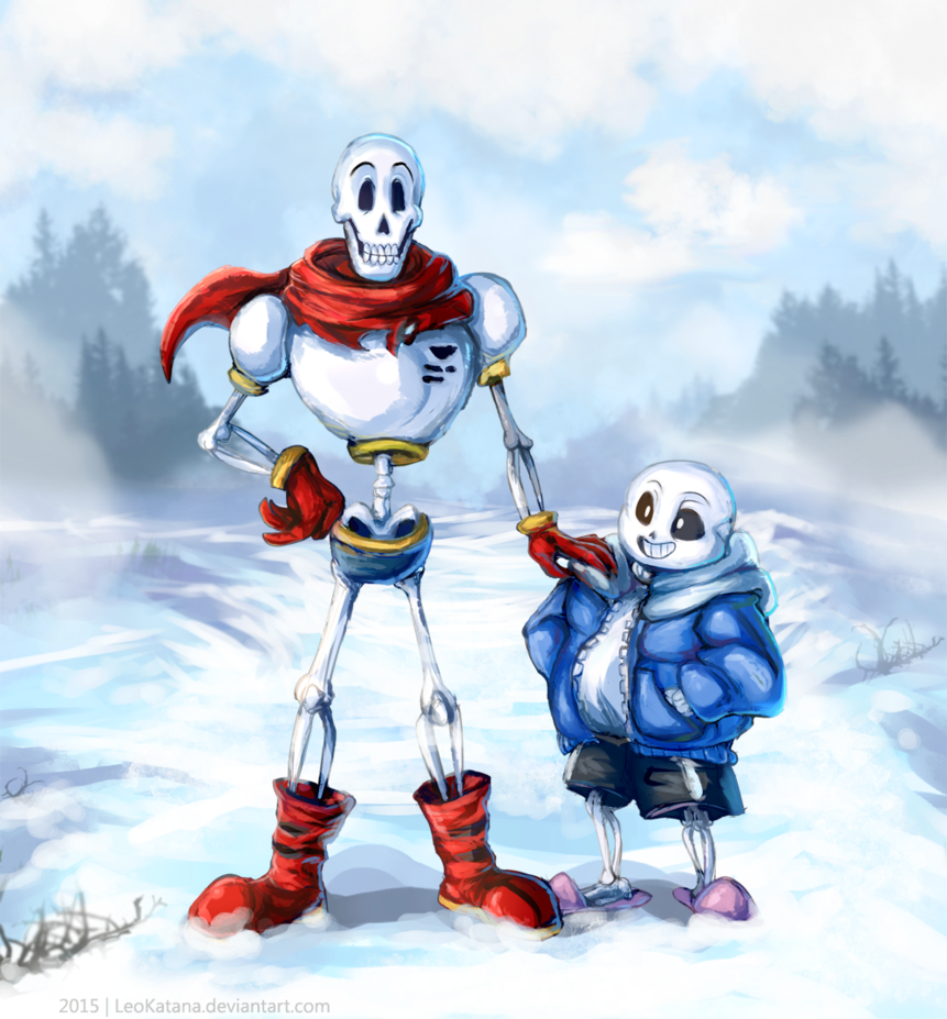 Undertale Papyrus and Sans by LeoKatana 861x927