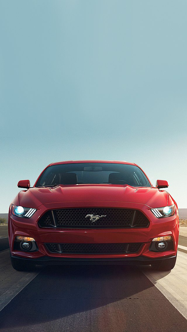 2015 Red Mustang iPhone 5 Wallpaper 640x1136 640x1136