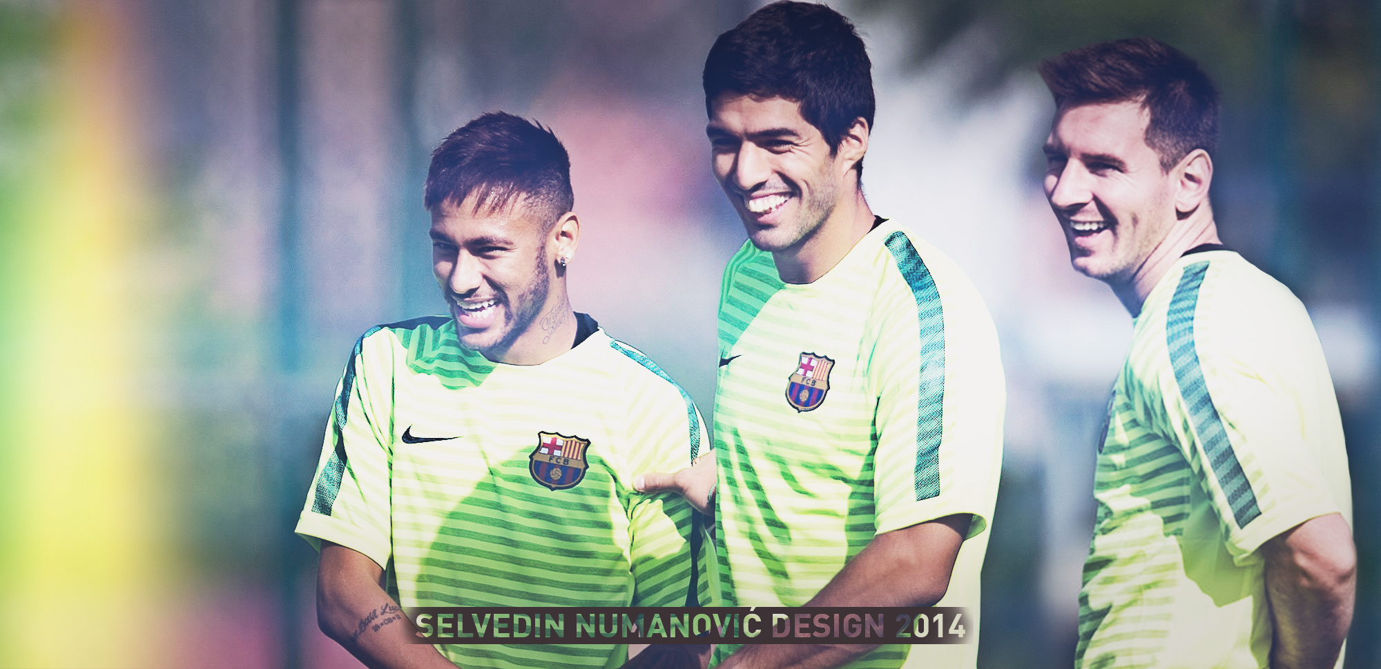 messi suarez neymar edit by selvedinfcb fan art wallpaper other 2014 2000x970