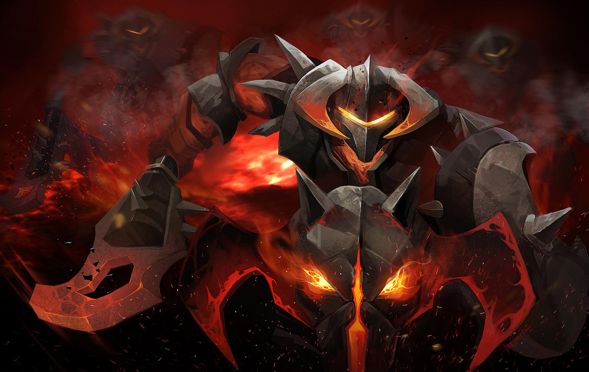 DOTA 2 Warriors Chaos Knight Armor Games Fantasy warrior demon 1920x1212