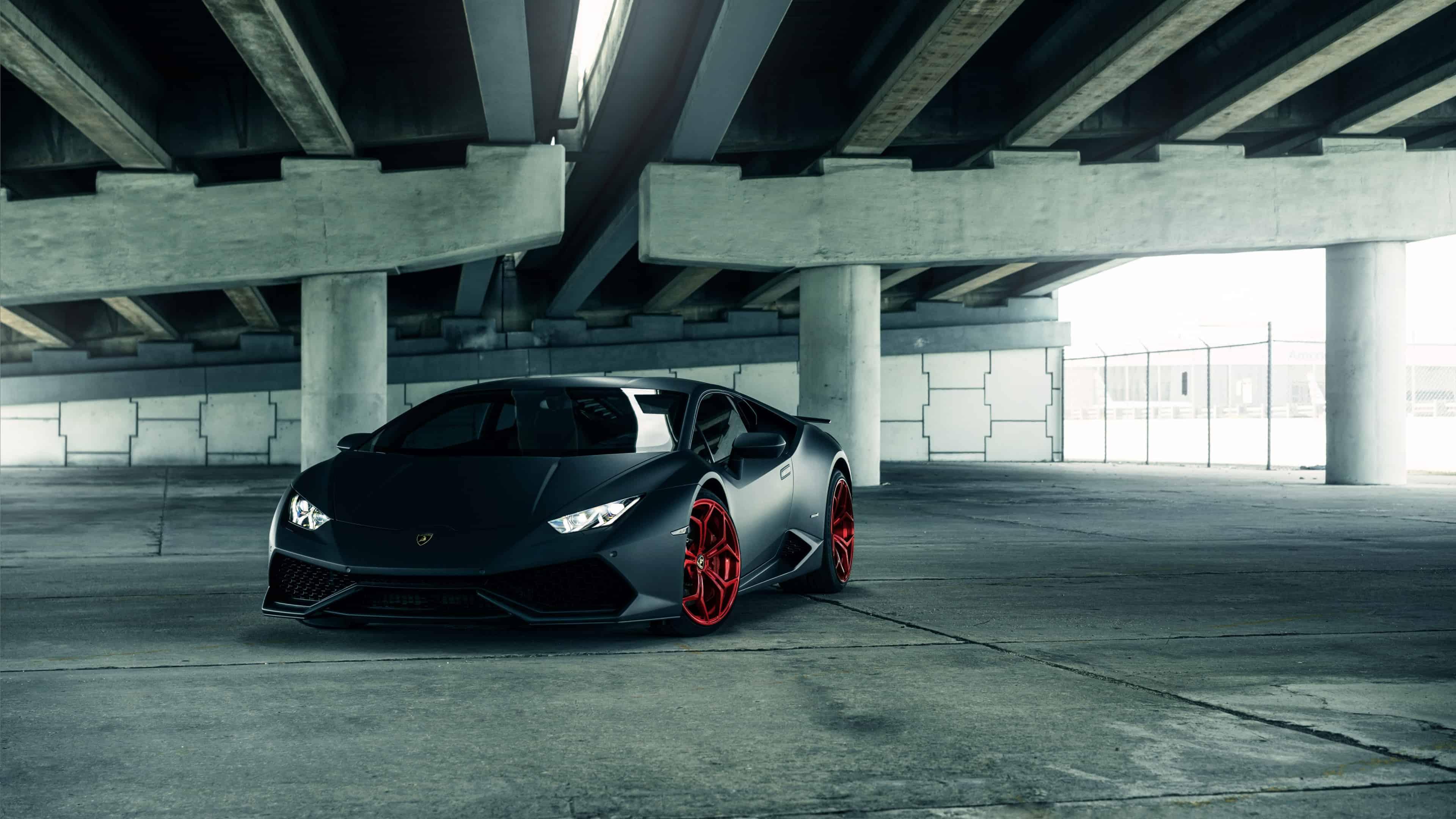 Lamborghini Huracan Black UHD 4K Wallpaper Pixelz 3840x2160