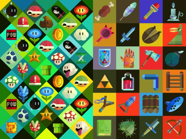 Retro Gaming Wallpapers Hd Retro zelda wallpapermario and 640x480