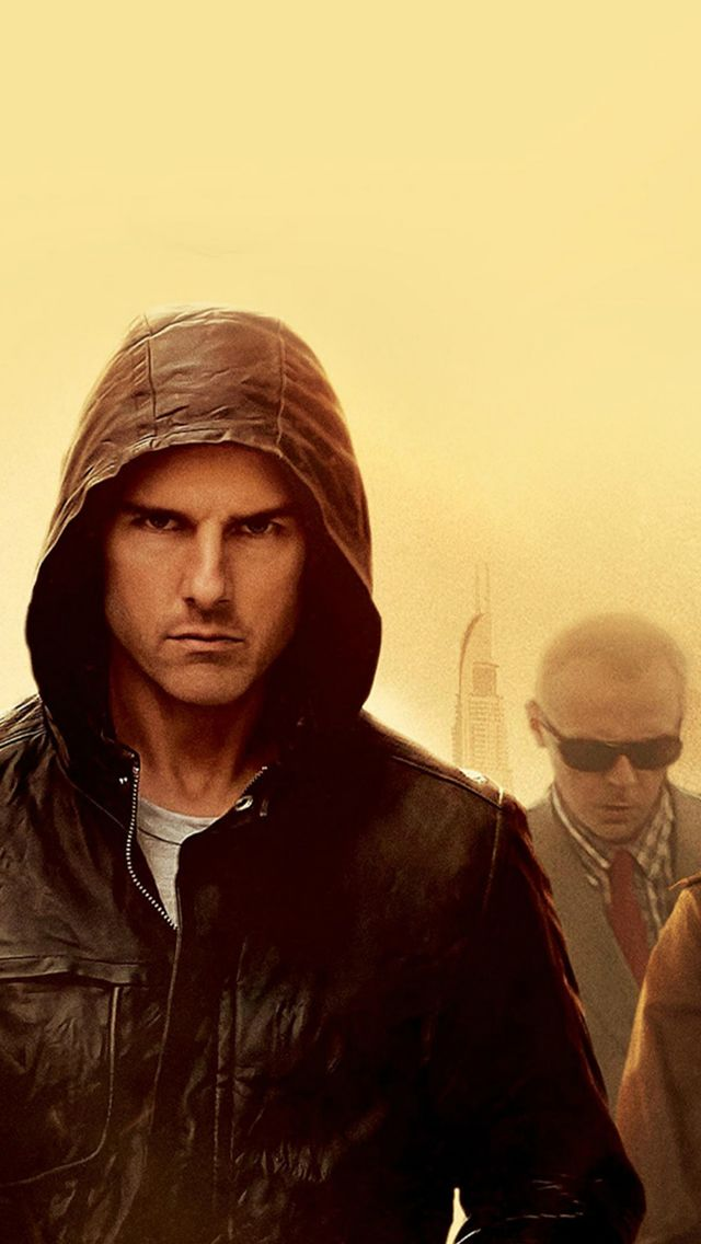 Mission Impossible Tom Cruise Film Art Yellow iPhone 5s 640x1136