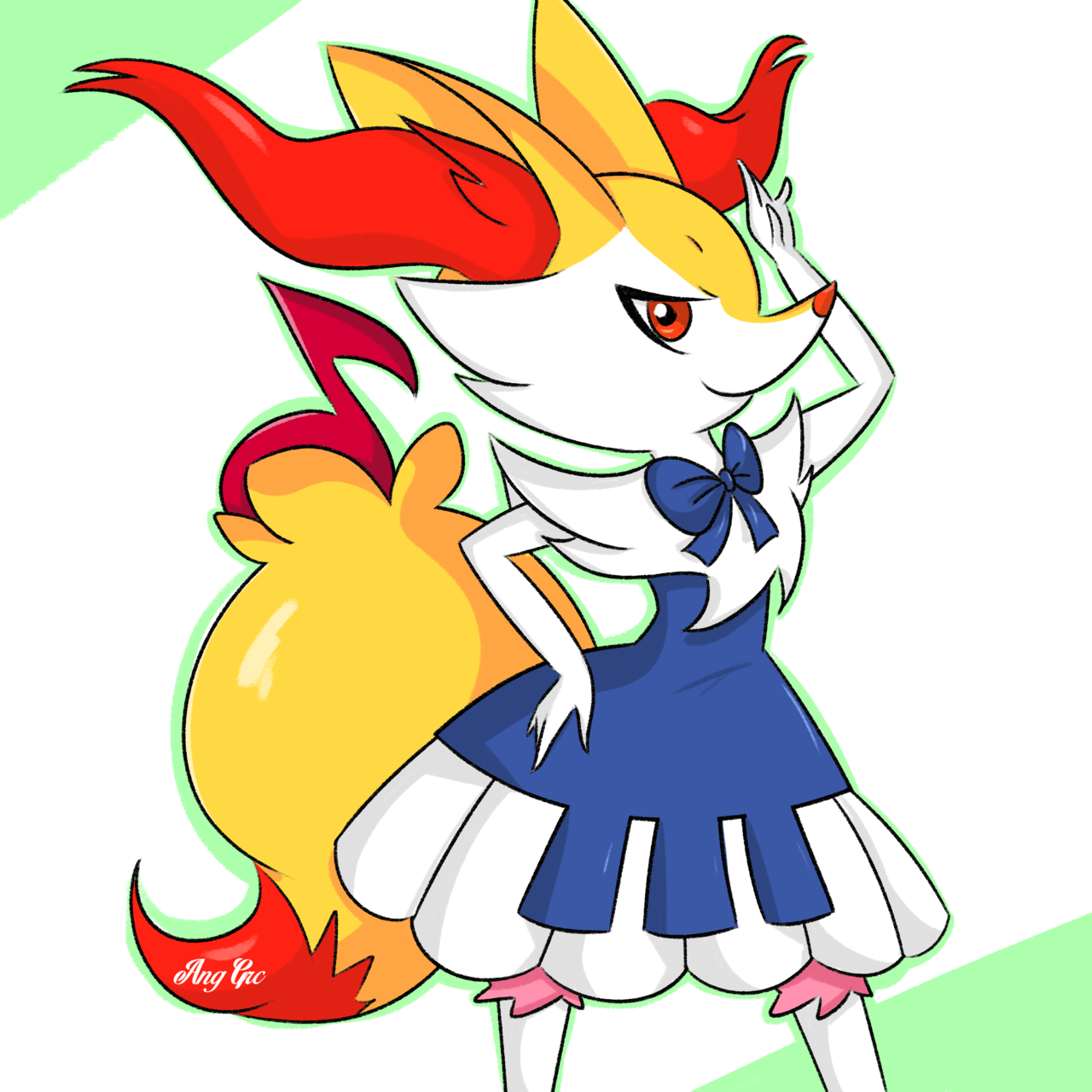 Braixen piano dress by AngGrc 1280x1280