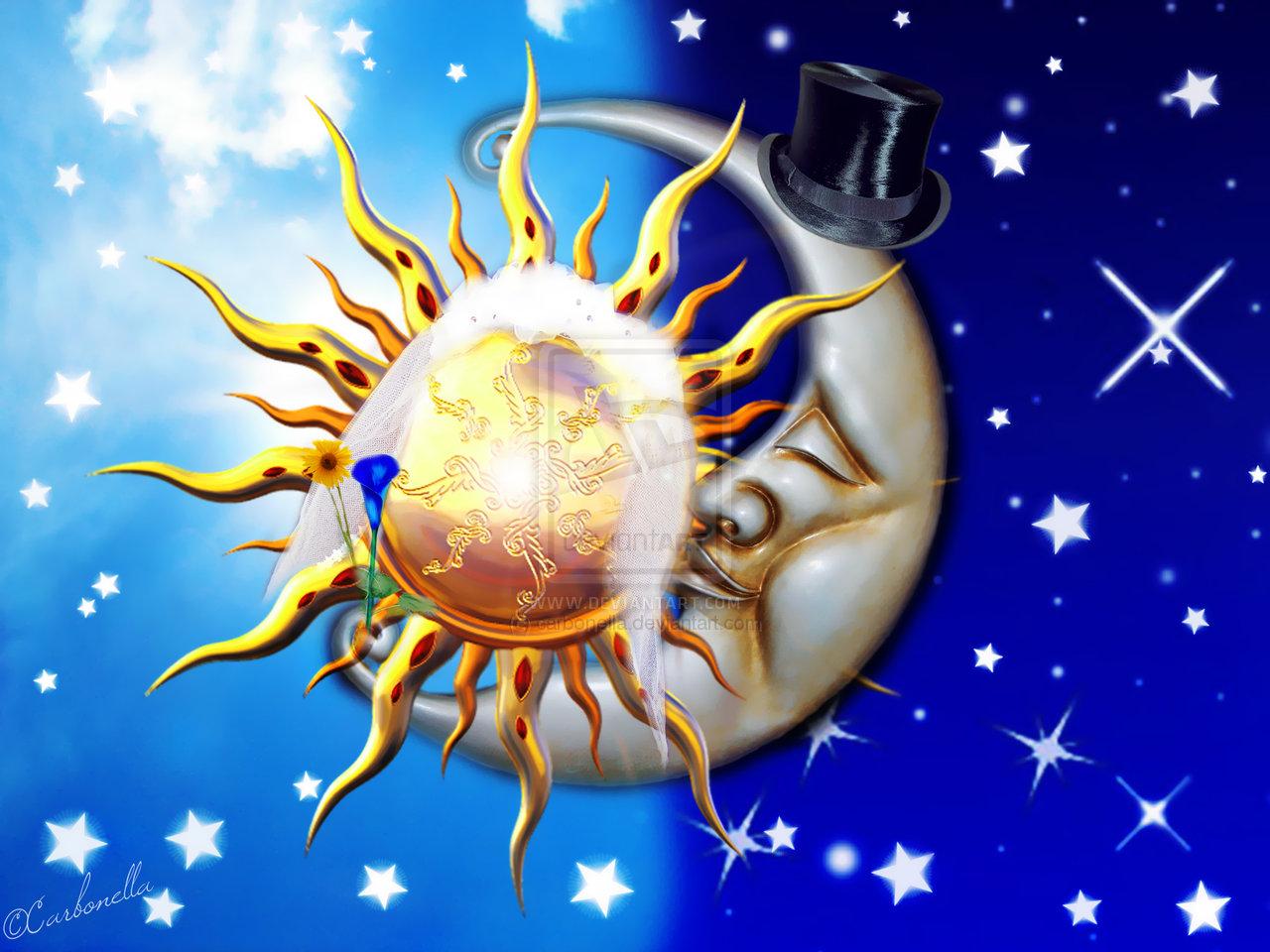 celestial sun and moon wallpaper wallpapersafari