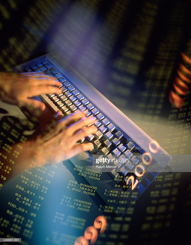 Hands Using Keyboard Spreadsheet Background High Res Stock Photo 798x1024