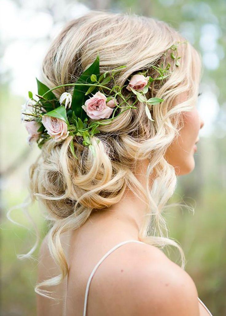 Makeup Hair Romantic wedding hair Wedding hairstyles for long 736x1030