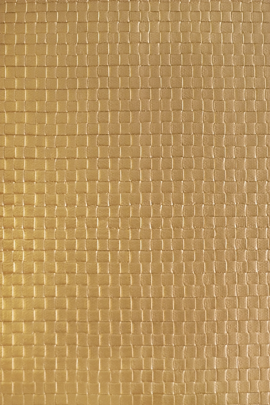 Weave Faux Leather Vinyl Wallcovering Metallic Bronze faux leather 534x801