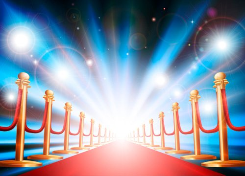 Ornate Red carpet backgrounds vector material 01   Vector Background 500x360