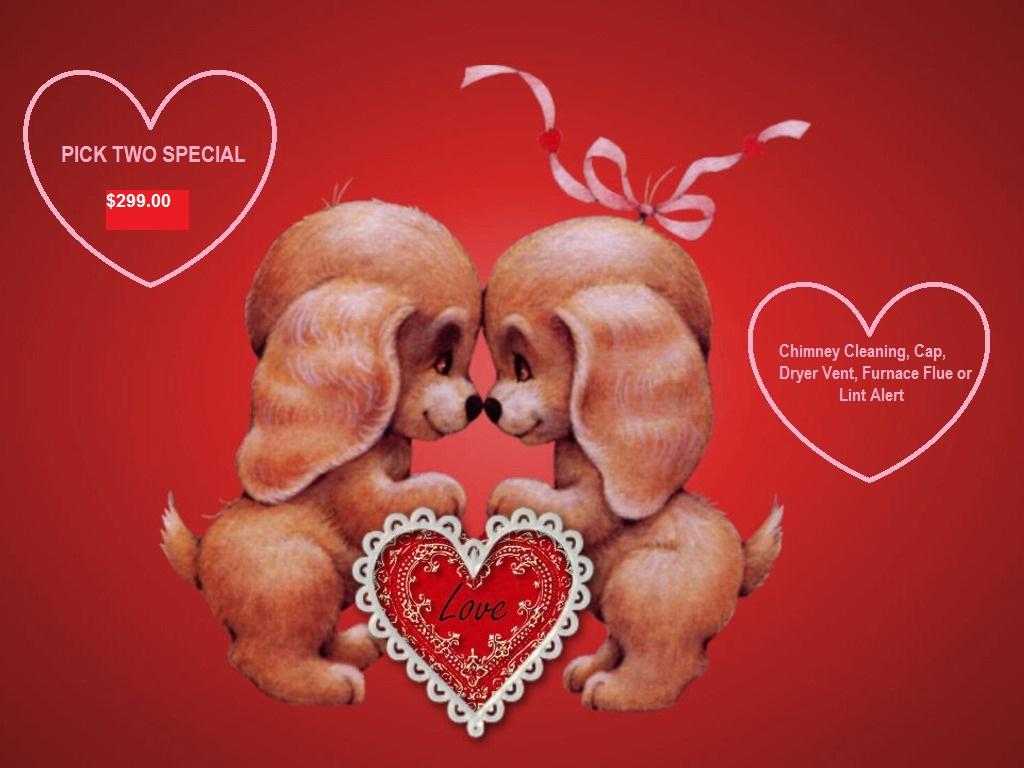 Cute Valentines Dogs Wallpaper   Aardvark Heating and AirAardvark 1024x768