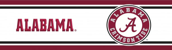 NCAA Alabama Crimson Tide Prepasted Border   College Wallpaper Border 600x176