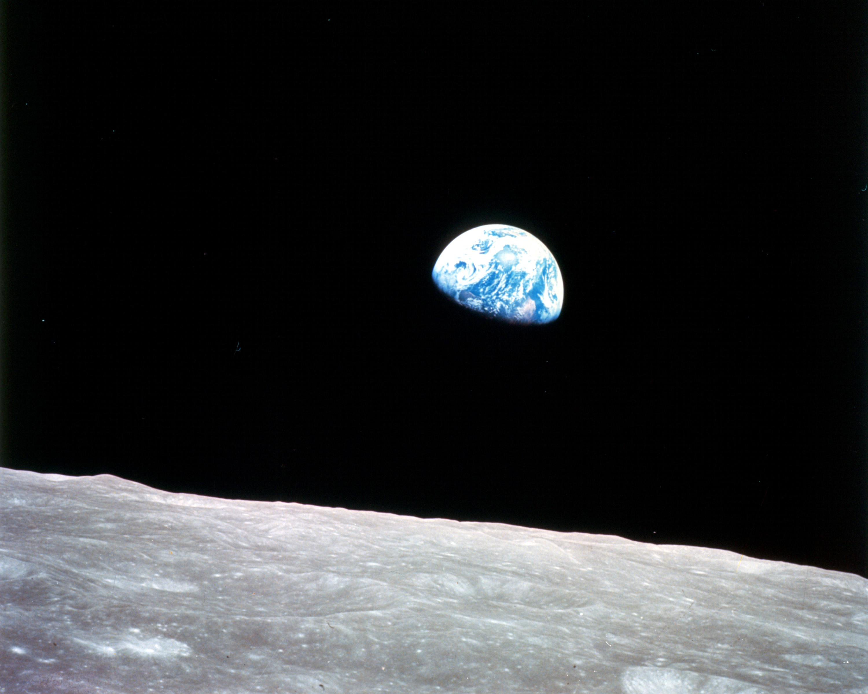 The Earth from the Moon   Full size 3000x2400