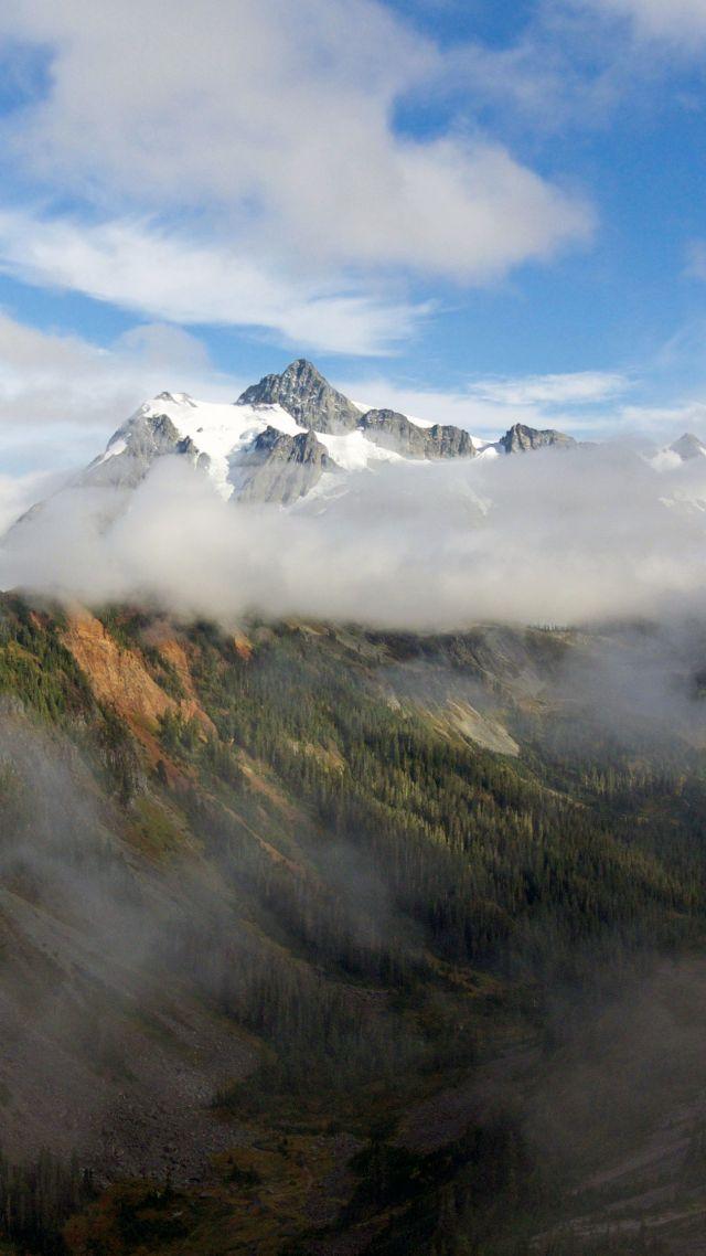 Wallpaper mountains 5k 4k wallpaper forest clouds Nature 12598 640x1138