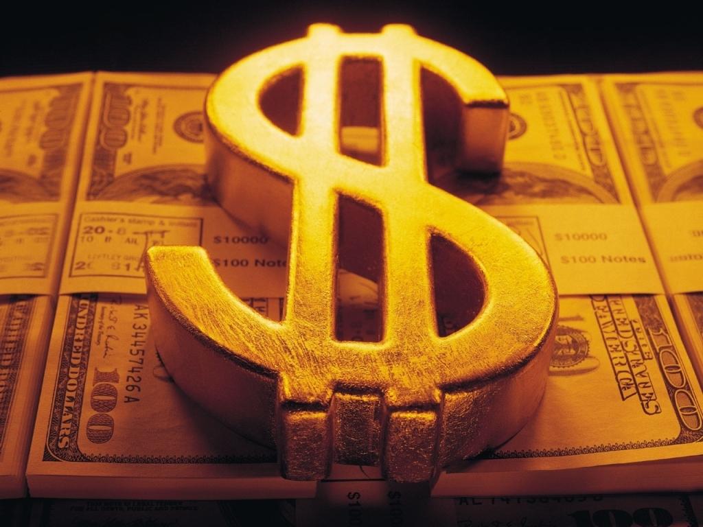 Money Sign Wallpaper Gold Dollar wallpapers for desktop 1024x768
