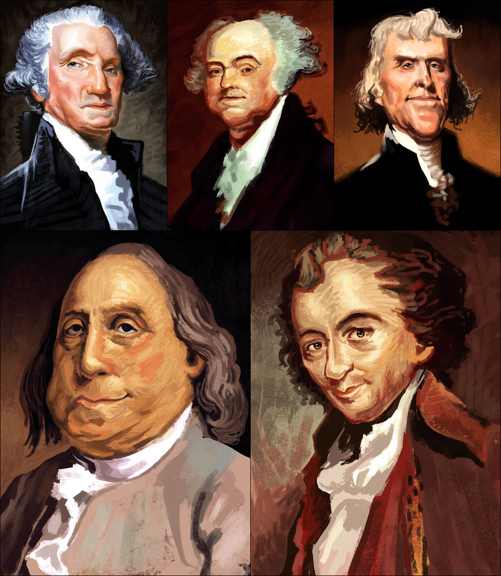 Famous American Founding Fathers and Presidents by 1024x1178