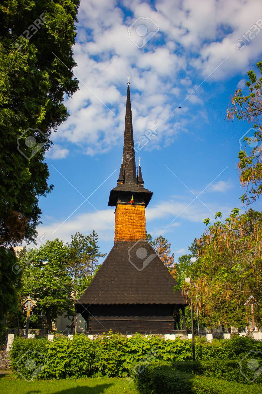 Wooden Church In Baile Felix Resort With Clear Sky Background 866x1300