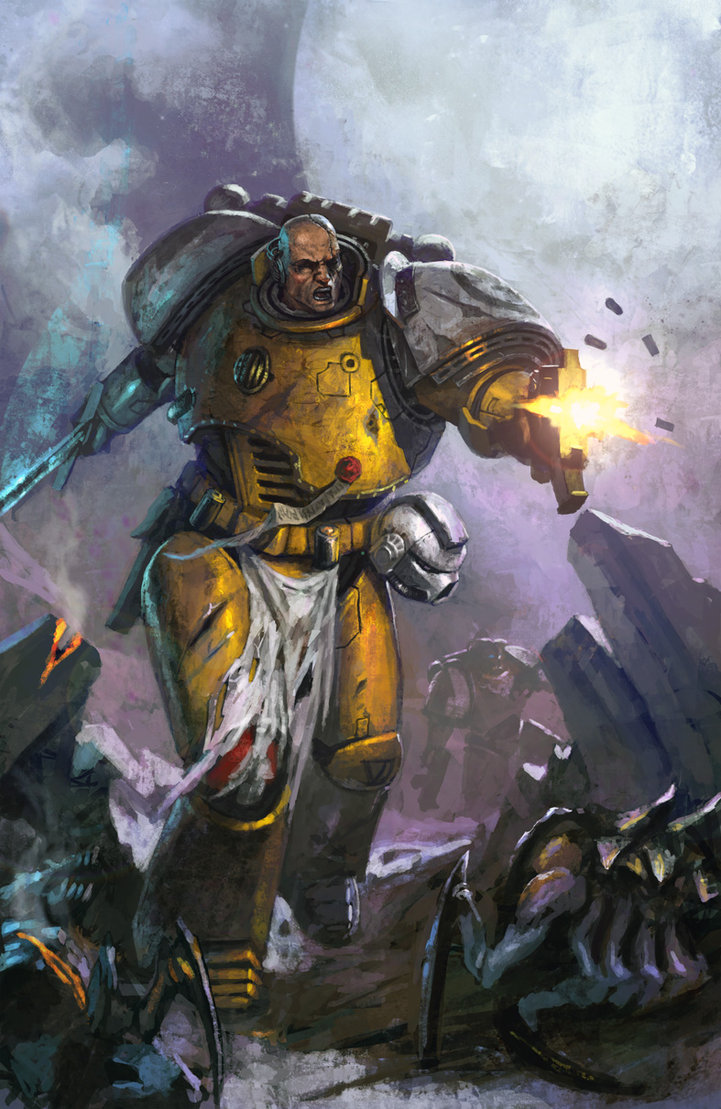 Imperial Fist Space Marine by DiegoGisbertLlorens 721x1109