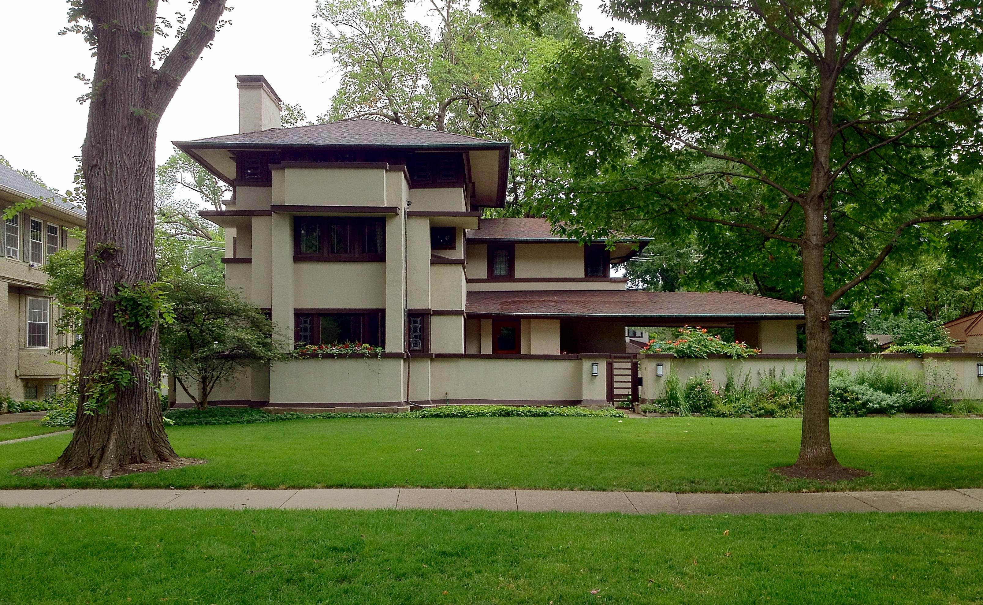 Prairie Style Home Plans Inspirational Frank Lloyd Wrights Oak 3213x1977