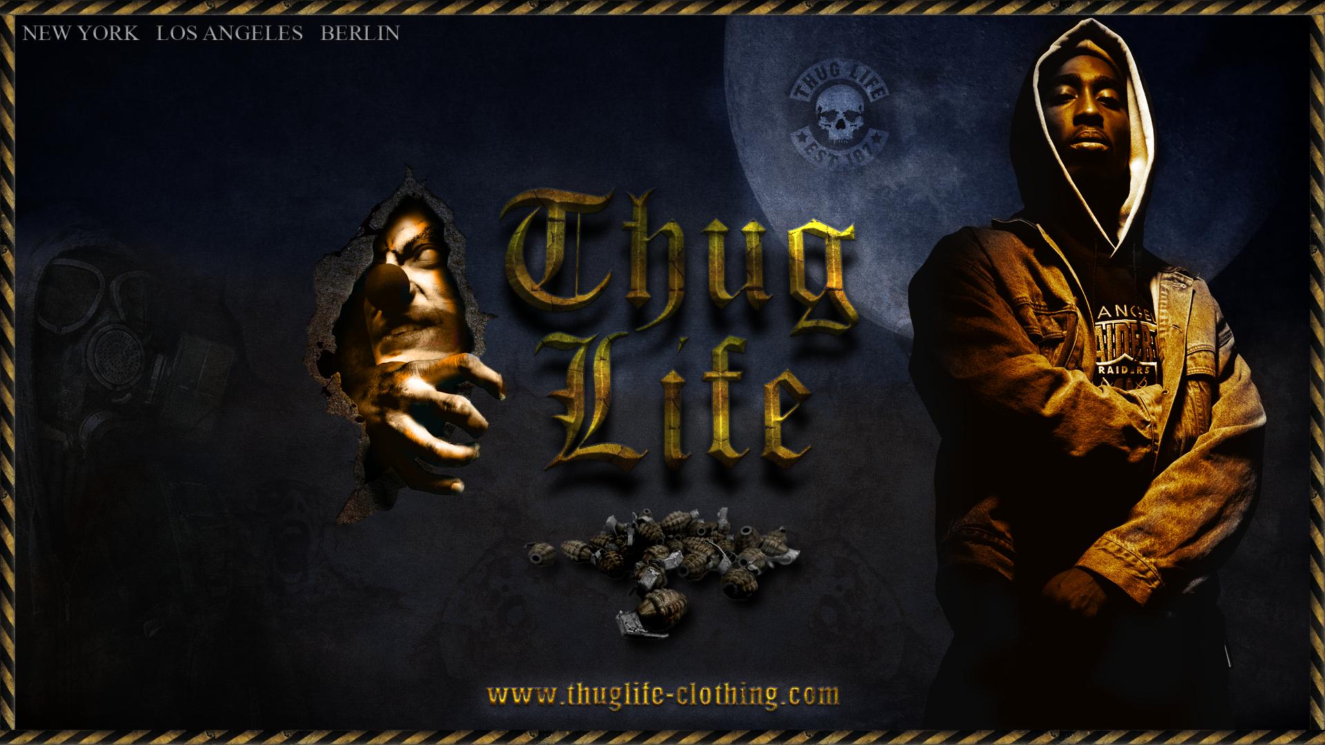 thug life wallpaer grunge by messerwilli fan art wallpaper other 2012 1920x1080