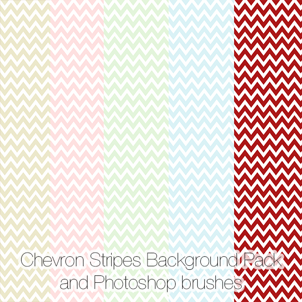 Chevron Stripes Background Pack and Photoshop brushes 600x600
