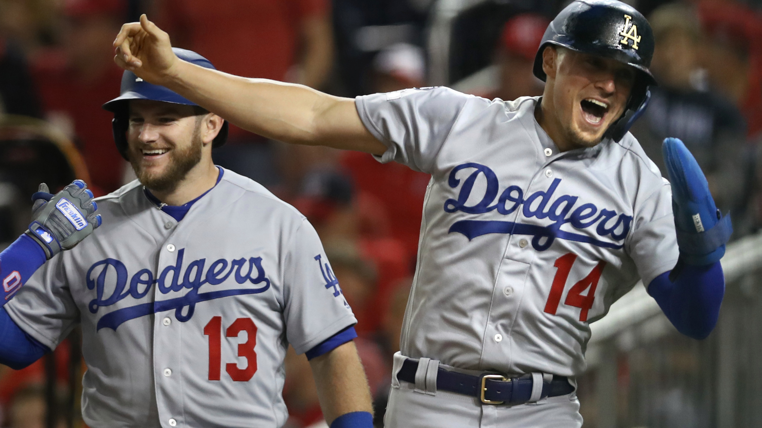 Big 6th inning lifts Dodgers past Nationals 10 4 for NLDS lead 8News 2560x1440